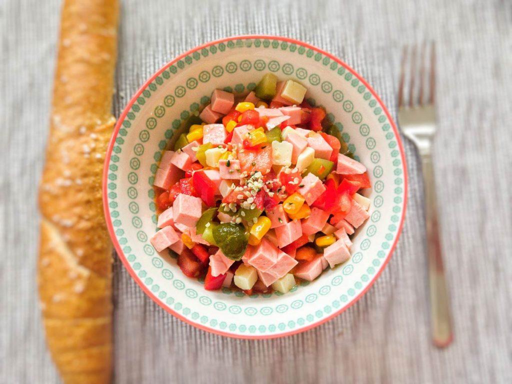 einfacher Wurstsalat Rezept casual cooking foodblog