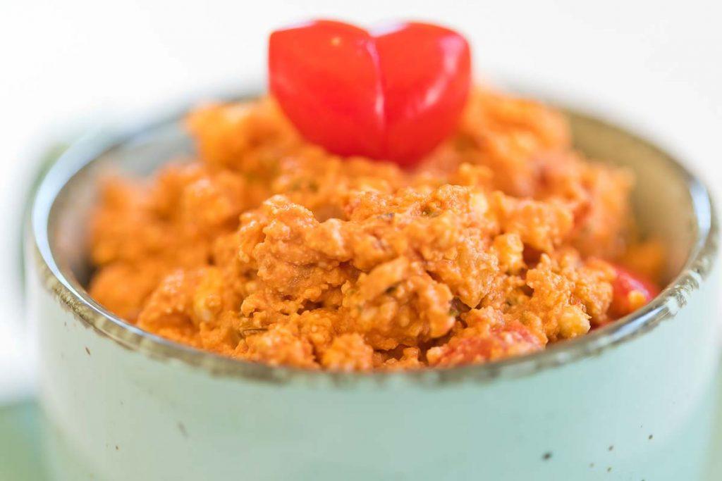 Tomaten Schafskäse Aufstrich casual cooking österreichischer food blog Aufstrich Dip